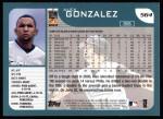 2001 Topps #564  Alex Gonzalez  Back Thumbnail