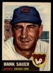 1953 Topps #111  Hank Sauer  Front Thumbnail