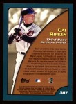 2001 Topps #387   -  Cal Ripken Season Highlights Back Thumbnail