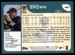 2001 Topps #427  Adrian Brown  Back Thumbnail
