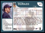 2001 Topps #671  Erubiel Durazo  Back Thumbnail