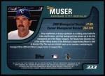 2001 Topps #333  Tony Muser  Back Thumbnail