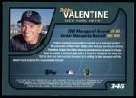 2001 Topps #346  Bobby Valentine  Back Thumbnail