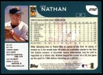2001 Topps #292  Joe Nathan  Back Thumbnail