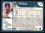 2001 Topps #37  Quilvio Veras  Back Thumbnail