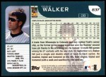 2001 Topps #637  Todd Walker  Back Thumbnail