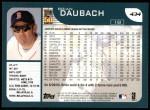 2001 Topps #434  Brian Daubach  Back Thumbnail