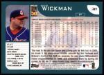 2001 Topps #311  Bob Wickman  Back Thumbnail
