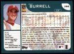 2001 Topps #144  Pat Burrell  Back Thumbnail
