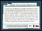 2001 Topps #767   Milwaukee Brewers Team Back Thumbnail
