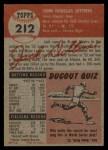 1953 Topps #212  Jack Dittmer  Back Thumbnail