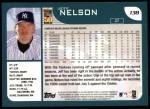 2001 Topps #138  Jeff Nelson  Back Thumbnail