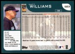 2001 Topps #503  Matt Williams  Back Thumbnail
