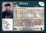 2001 Topps #57  Bobby Jones  Back Thumbnail