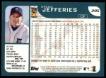 2001 Topps #295  Gregg Jefferies  Back Thumbnail