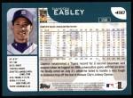2001 Topps #490  Damion Easley  Back Thumbnail