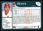 2001 Topps #417  Alan Benes  Back Thumbnail