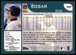 2001 Topps #162  Tim Bogar  Back Thumbnail