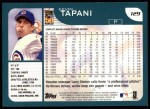 2001 Topps #129  Kevin Tapani  Back Thumbnail