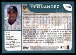 2001 Topps #536  Orlando Hernandez  Back Thumbnail