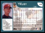 2001 Topps #714  Chris Truby  Back Thumbnail
