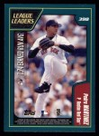 2001 Topps #398   -  Kevin Brown / Pedro Martinez League Leaders Back Thumbnail