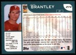 2001 Topps #274  Jeff Brantley  Back Thumbnail