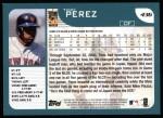 2001 Topps #436  Timo Perez  Back Thumbnail