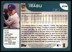 2001 Topps #234  Hideki Irabu  Back Thumbnail