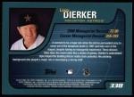 2001 Topps #338  Larry Dierker  Back Thumbnail