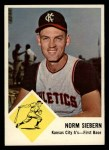 1963 Fleer #17  Norm Siebern  Front Thumbnail