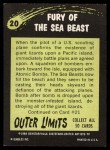 1964 Topps / Bubbles Inc Outer Limits #20   Fury of the Sea Beast  Back Thumbnail