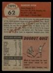 1953 Topps #62  Monte Irvin  Back Thumbnail