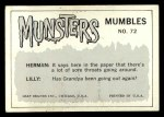 1964 Leaf Munsters #72   Now I See It Back Thumbnail
