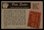1955 Bowman #6  Pete Suder  Back Thumbnail