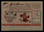 1958 Topps #430  Bobby Thomson  Back Thumbnail