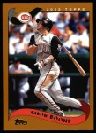 2002 Topps #92  Aaron Boone  Front Thumbnail