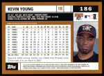 2002 Topps #186  Kevin Young  Back Thumbnail