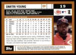 2002 Topps #19  Dmitri Young  Back Thumbnail