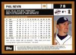 2002 Topps #78  Phil Nevin  Back Thumbnail