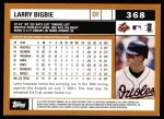 2002 Topps #368  Larry Bigbie  Back Thumbnail
