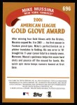 2002 Topps #696   -  Mike Mussina Golden Glove Back Thumbnail