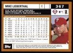 2002 Topps #367  Mike Lieberthal  Back Thumbnail
