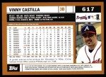 2002 Topps #617  Vinny Castilla  Back Thumbnail