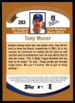 2002 Topps #283  Tony Muser  Back Thumbnail