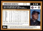 2002 Topps #170  Armando Benitez  Back Thumbnail