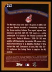 2002 Topps #352   Cleveland - Playoff-Bound Back Thumbnail