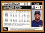 2002 Topps #135  Shannon Stewart  Back Thumbnail