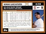 2002 Topps #420  Nomar Garciaparra  Back Thumbnail