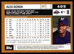 2002 Topps #409  Alex Ochoa  Back Thumbnail